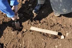Abstandsmessung beim Kartoffeln legen / Frühjahr 2016 / Neunerberg